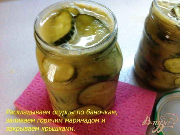 Огурцы в горчичном маринаде
