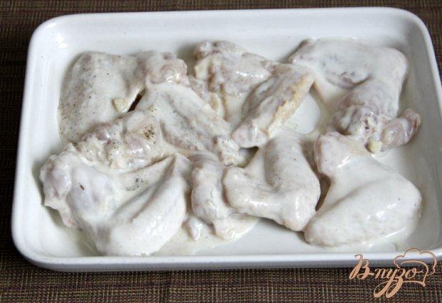 """Куриные крылышки, запеченные,  в соусе """"Баффало"""""""