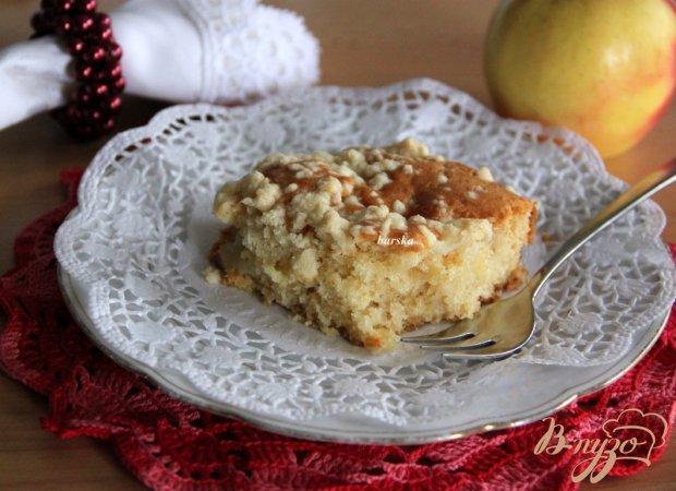 Ленивый яблочый пирог