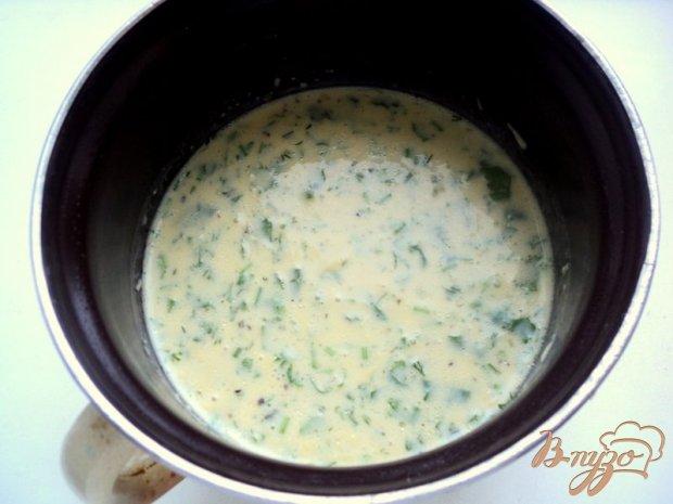 Блины с сыром и зеленью