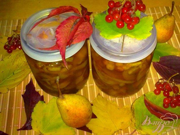 Варенье грушевое с калиной и ванилином
