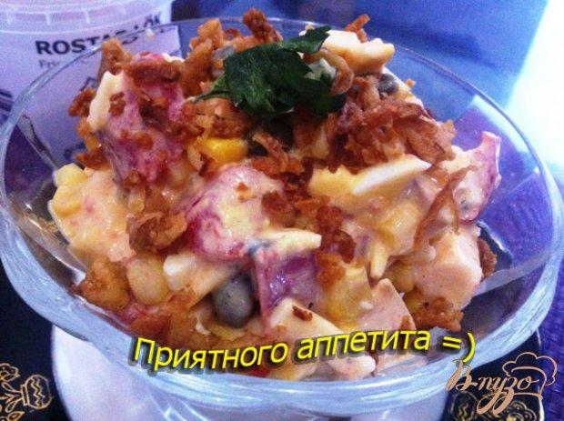 Салат с курицей и каперсами