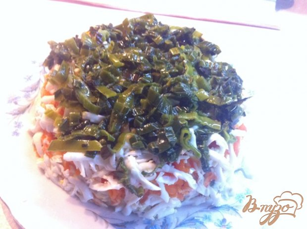Салат слоёный с тунцом