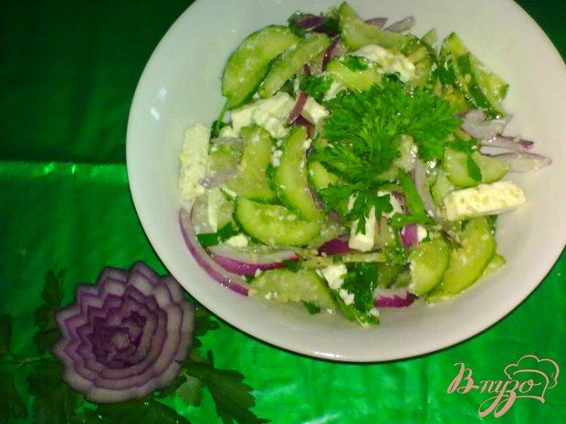 Салат из огурцов с фетой
