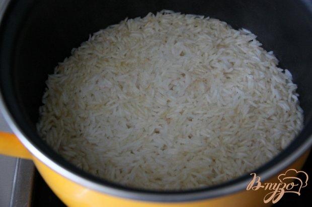 Рис с зелёной фасолью, цуккини и фетой