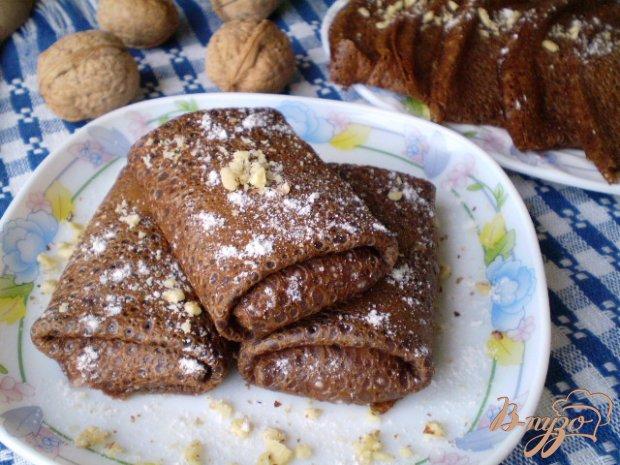 Шоколадные блинчики с начинкой запеченные в духовке