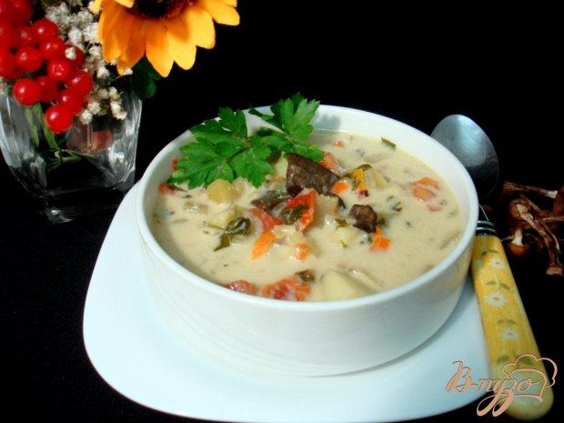 Грибной суп с сырочками