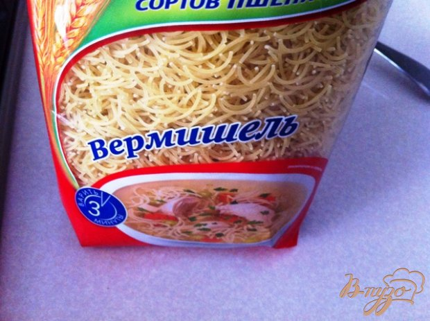 Суп из ребрышек с вермишелью
