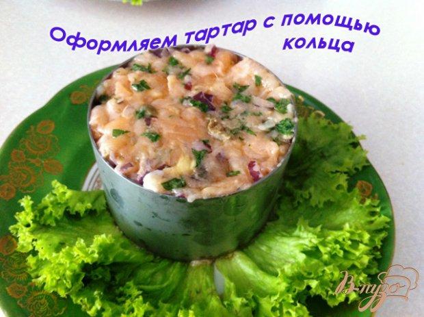 Татртар из лосося с каперсами