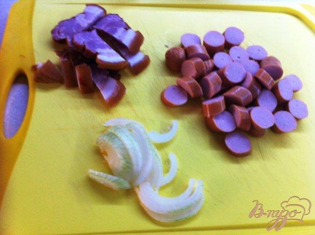Яичница с грудинкой и сосисками