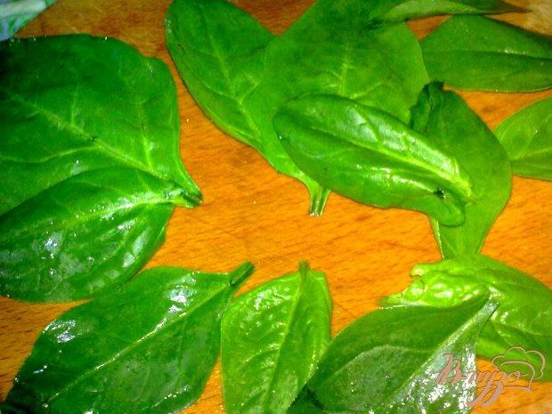 Салат из шпината с репкой