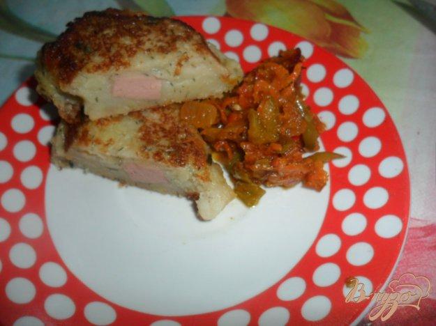 Рецепт Картофельные порожки с колбасой