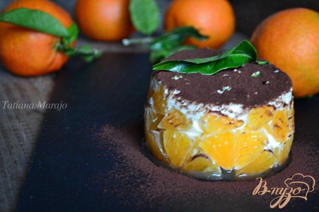 фото рецепта: Тирамису с кусочками мандарина