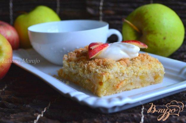 Рецепт Яблочный пирог со штрейзелем