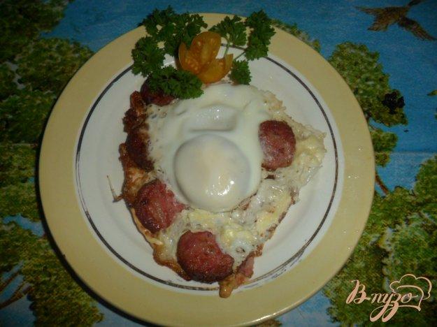 Рецепт быстрый завтрак яйца с колбасой