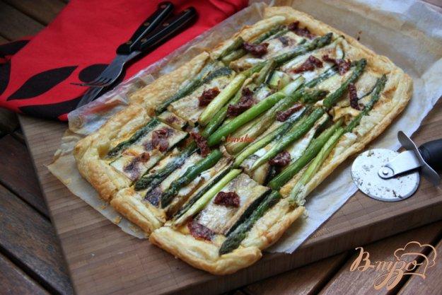 фото рецепта: Флан с зеленой спаржой и цуккини