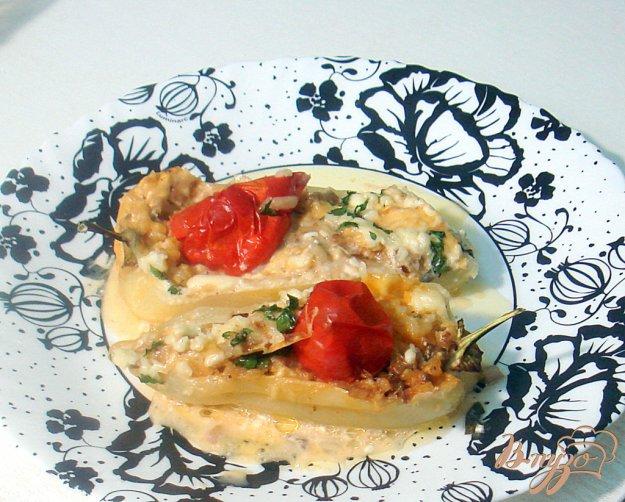 Рецепт Перец фаршированный грибами, рисом и сыром