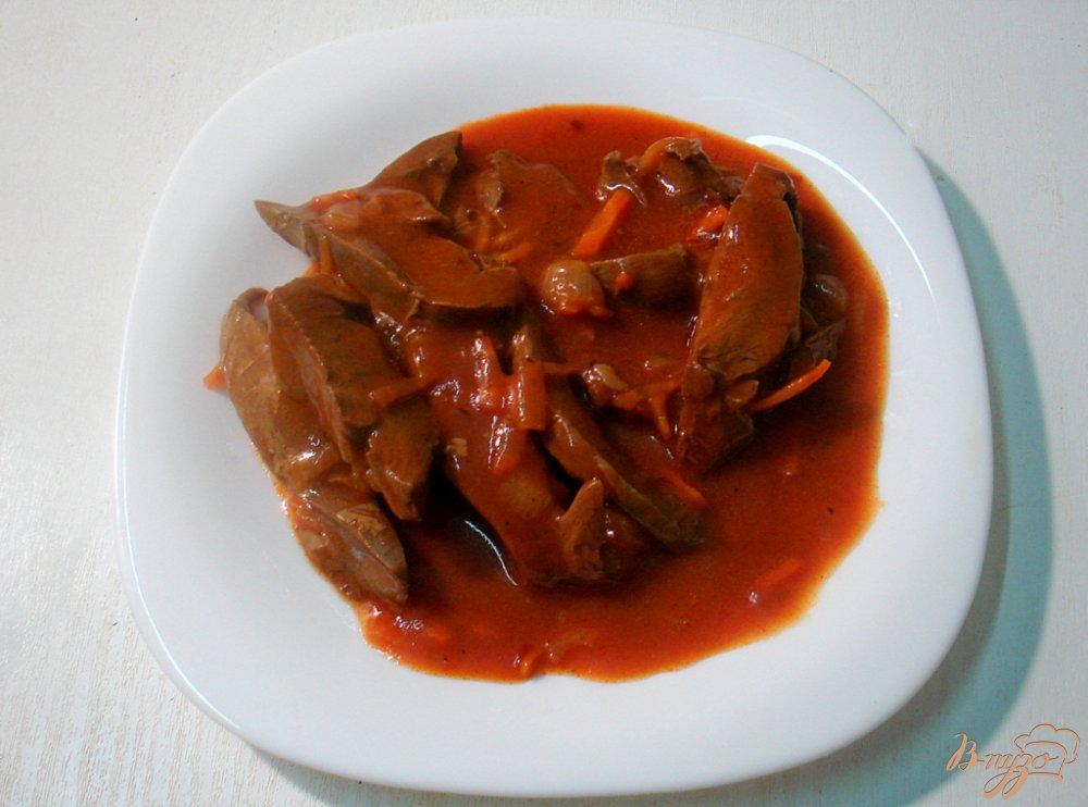 Фото приготовление рецепта: Сердце в томатно - перечном соусе шаг №7