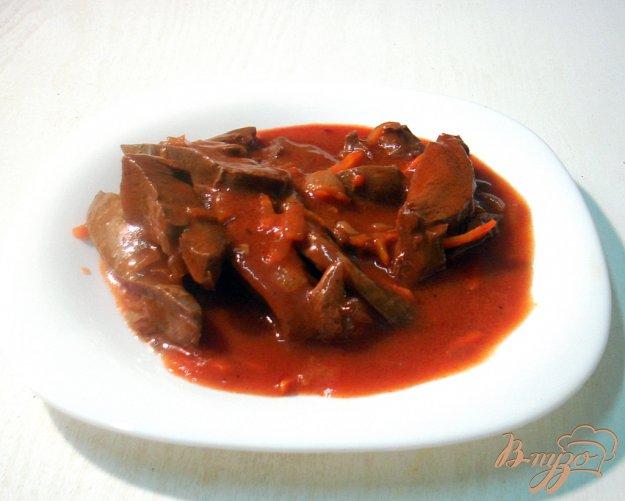 фото рецепта: Сердце в томатно - перечном соусе