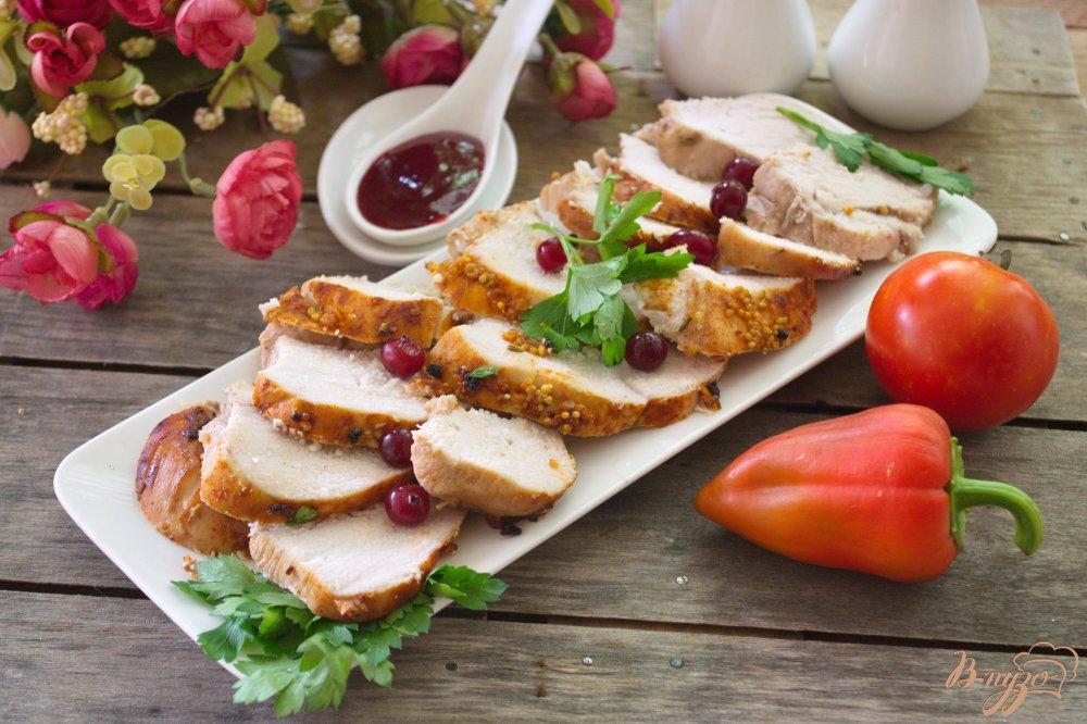 Фото приготовление рецепта: Пасторма куриная, маринованная в красном вине шаг №6