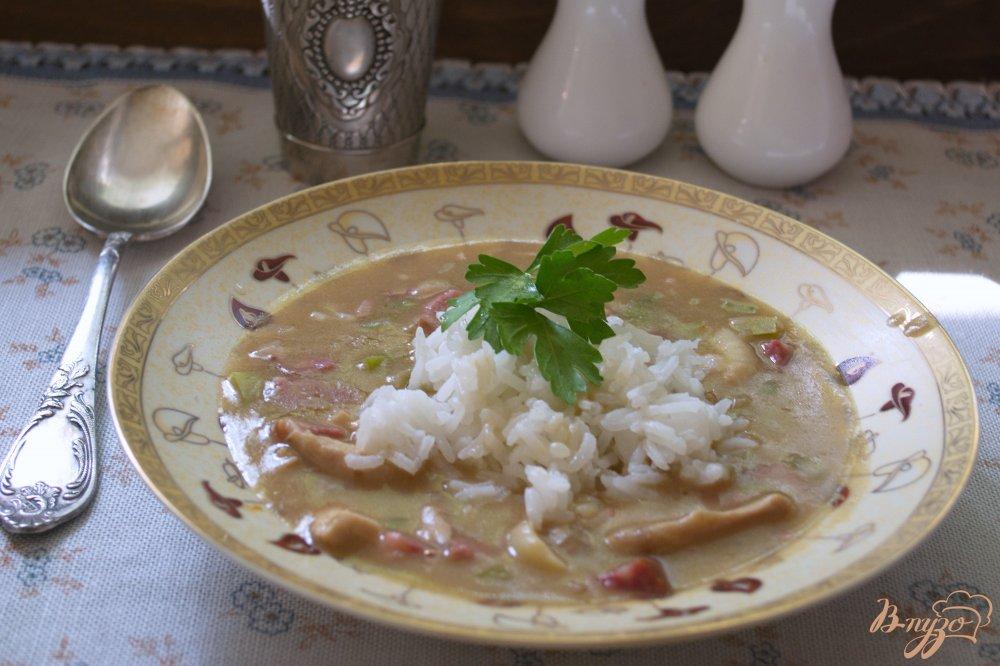 Фото приготовление рецепта: Суп Гамбо шаг №7