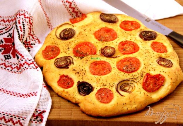 Рецепт Лепешка с помидорами и луком