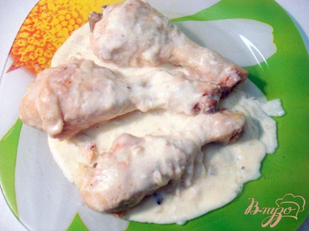 фото рецепта: Куриные голени в сырном соусе