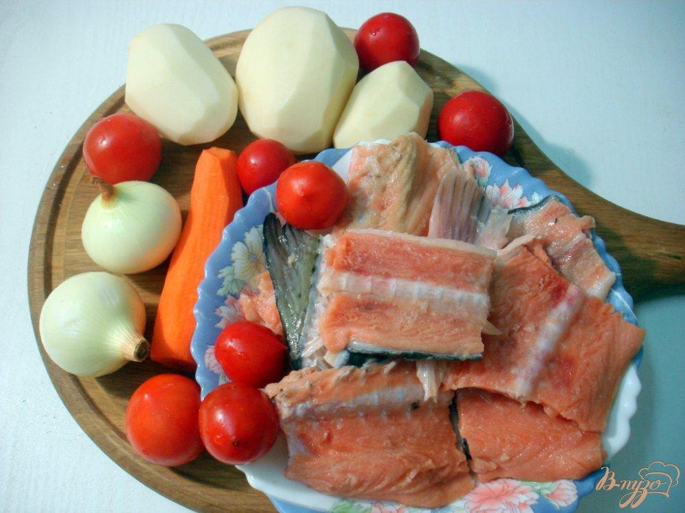 Фото приготовление рецепта: Рыбный суп с томатами шаг №1