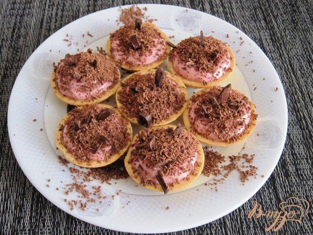 Рецепт Тарталетки с ягодно-творожным кремом