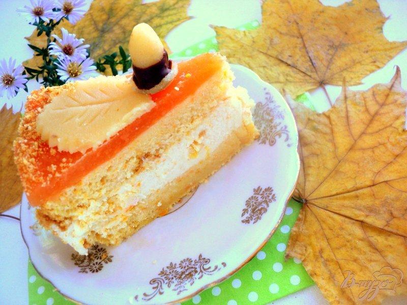 Фото приготовление рецепта: Торт «Золотая осень» шаг №9