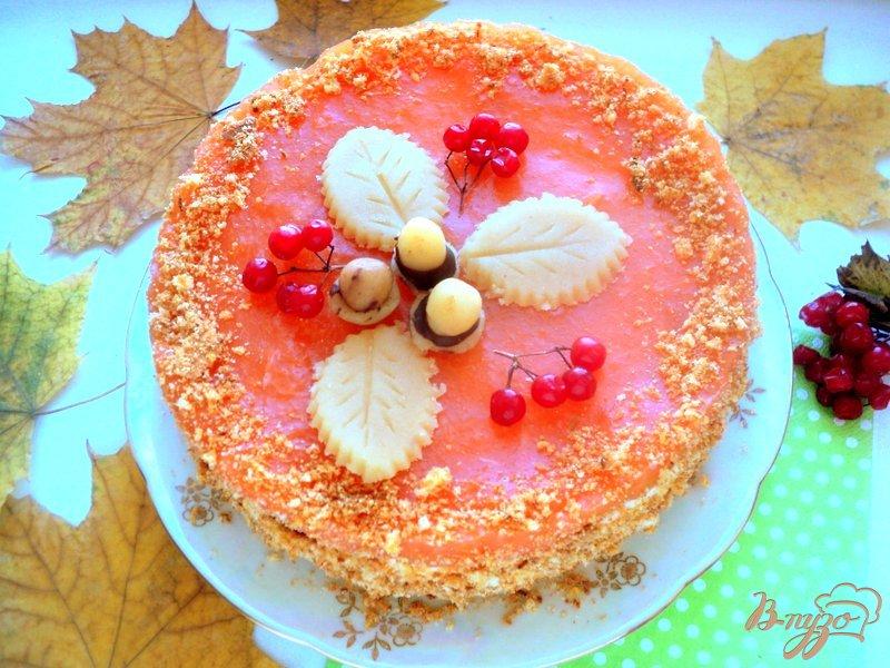 Фото приготовление рецепта: Торт «Золотая осень» шаг №8