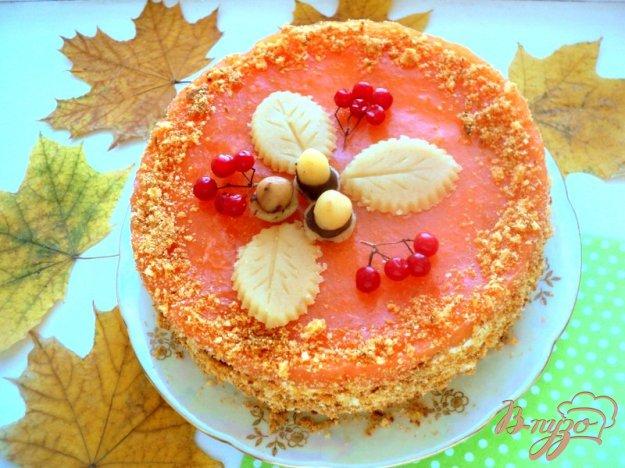 Торт «Золота осінь». Як приготувати з фото