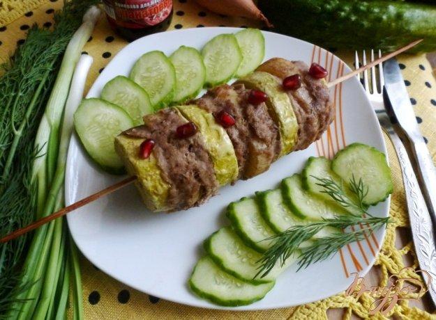 Рецепт Кебаб с кабачком и картофелем
