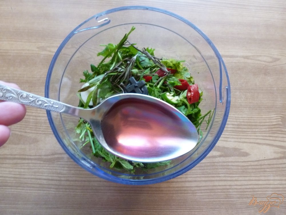 Фото приготовление рецепта: Соус чимичурри шаг №2
