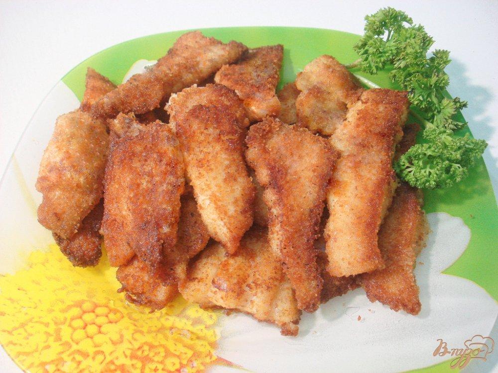 Фото приготовление рецепта: Палочки из пангасиуса шаг №6