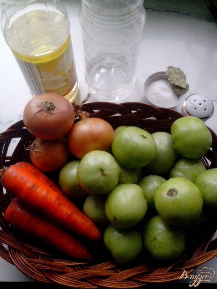 Фото приготовление рецепта: Салат из зелёных помидоров шаг №1