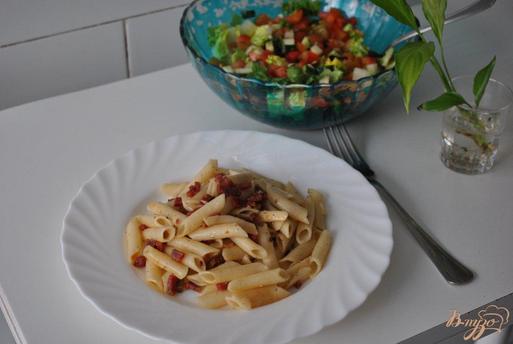 Фото приготовление рецепта: Макароны с хамоном шаг №6