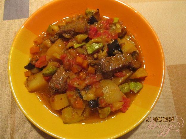 Рецепт Овощное рагу с мясом летнее