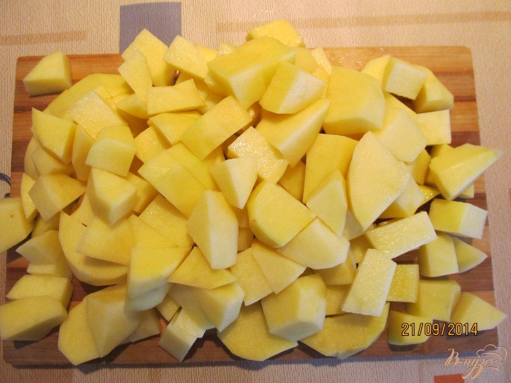Фото приготовление рецепта: Овощное рагу с мясом летнее шаг №3