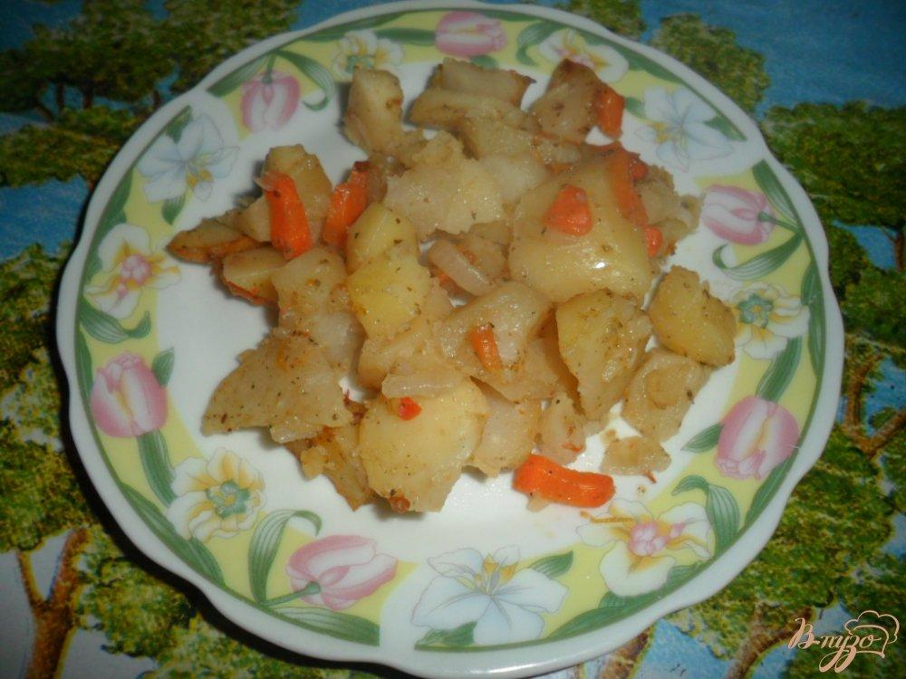 Фото приготовление рецепта: Жаренный картофель в рукаые для запекания шаг №7