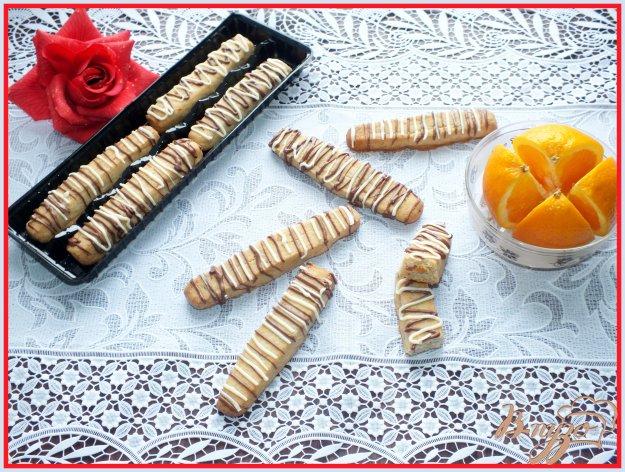 Рецепт Апельсиново-ореховые палочки с шоколадом