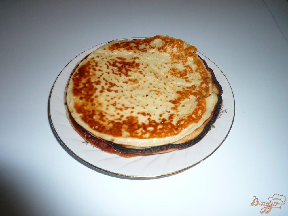 Фото приготовление рецепта: Блинчики с медом шаг №5