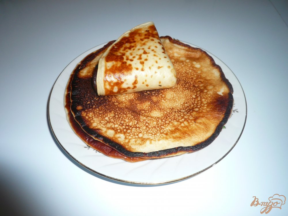 Фото приготовление рецепта: Блинчики с медом шаг №6