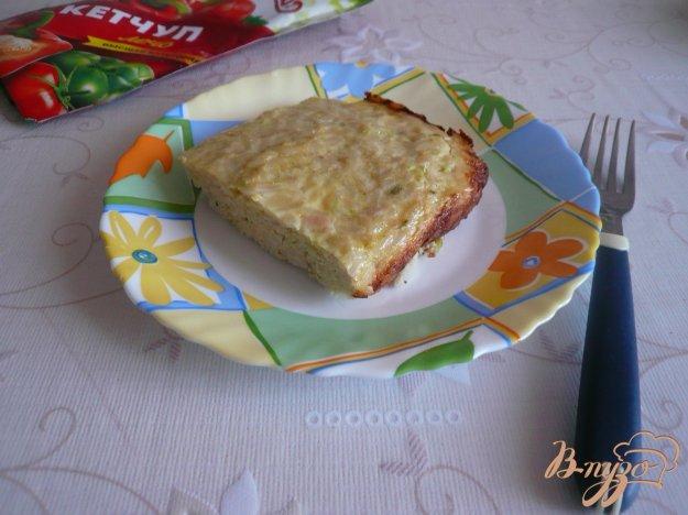 фото рецепта: Куриная запеканка с рисом и кабачками