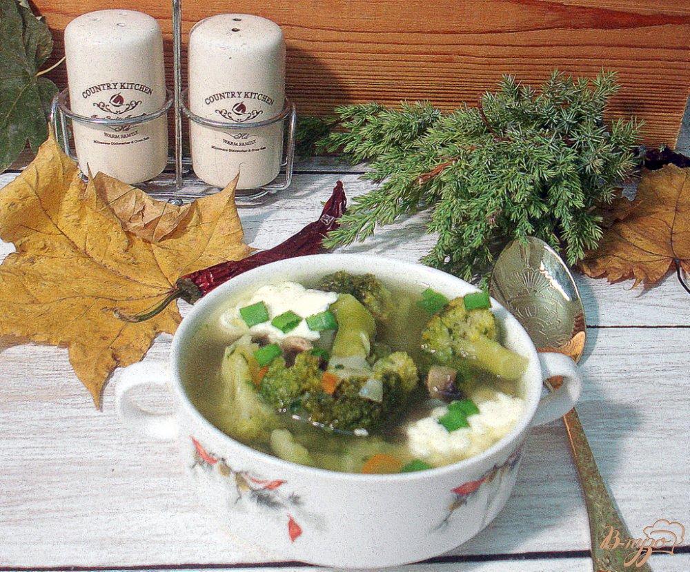 Фото приготовление рецепта: Зелёный суп шаг №7