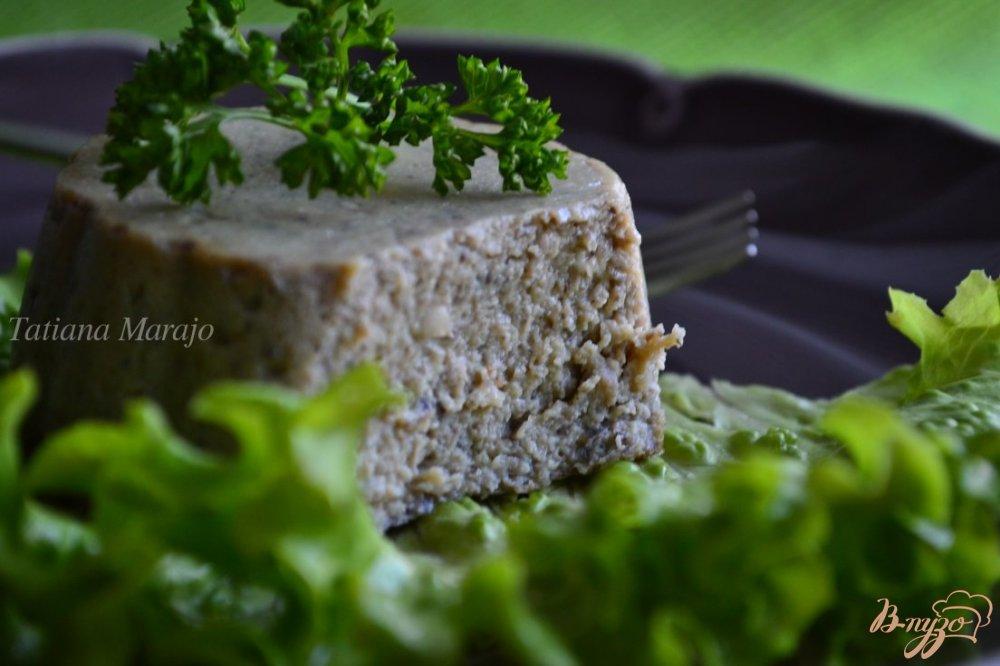 Фото приготовление рецепта: Грибной флан шаг №5