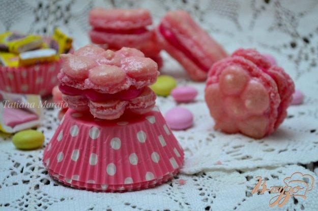 фото рецепта: Печенье Макарон  со вкусом жевательной резинки