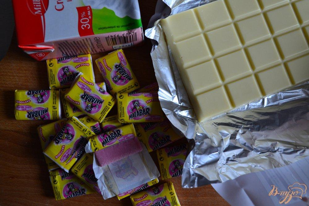 Фото приготовление рецепта: Печенье Макарон  со вкусом жевательной резинки шаг №4