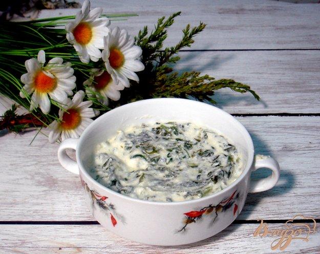 Рецепт Шпинат под сливочным соусом