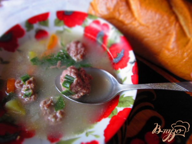 фото рецепта: Картофельный суп с мясными фрикадельками